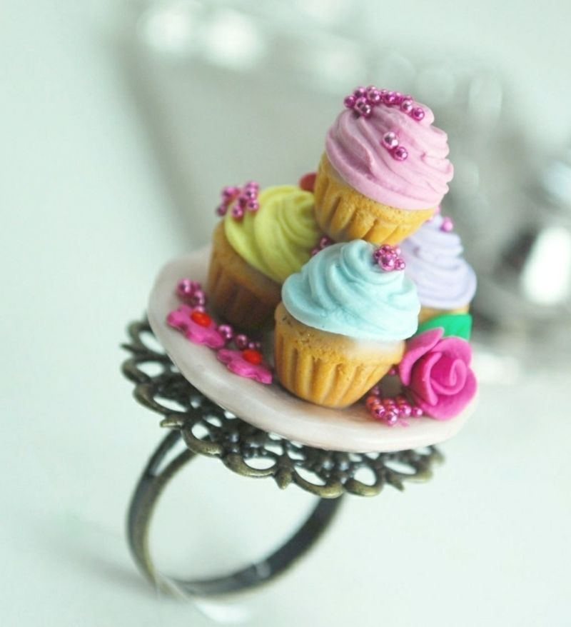 Fimo Schmuck interessanter Ring