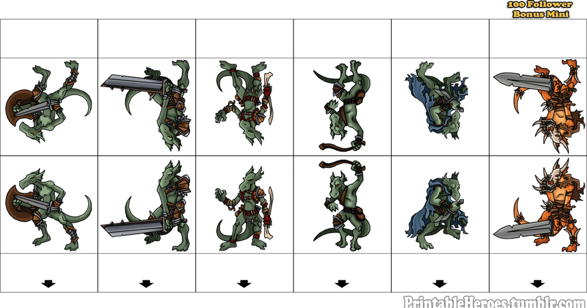 It is a graphic of Punchy D&d Paper Miniatures Template