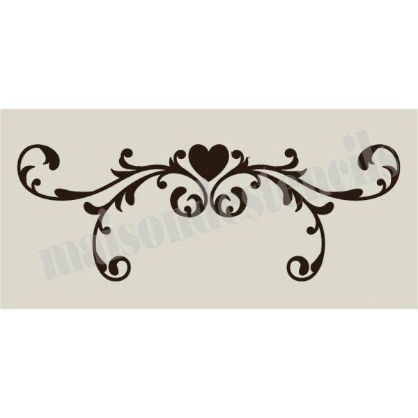 Heart Scroll 5.5x11.5 Stencil SKU 00994 $16.00