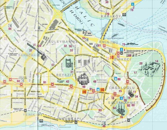 High-resolution map of Istanbul for print or download | De viajes