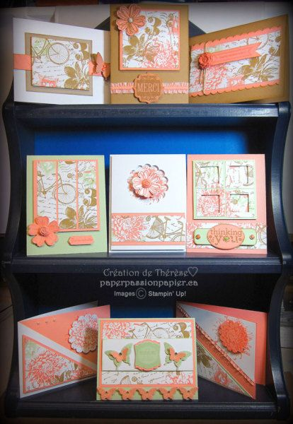 love all of these... If you don't want to stamp the background, use some DSP. http://paperpassionpapier.ca