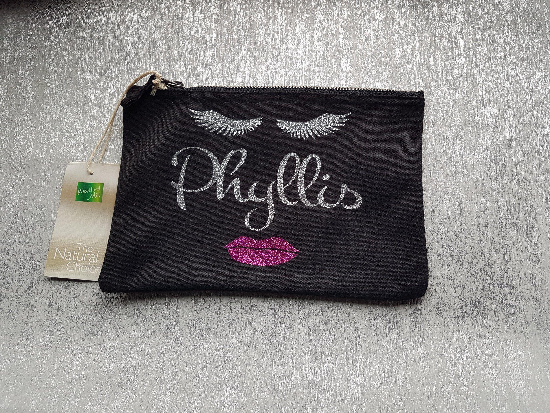 Large Personalised Makeup Bag, Personalised Cosmetic Bag