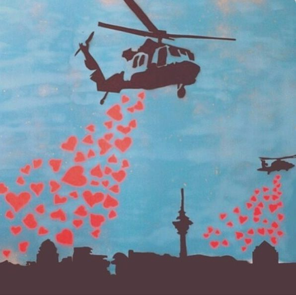 Love distribution <3 -Bansky