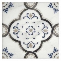 Decorative Accent Tile Awesome Fiore Pattern  Obsidian  Tile Backsplash  Pinterest  Carrara Design Inspiration