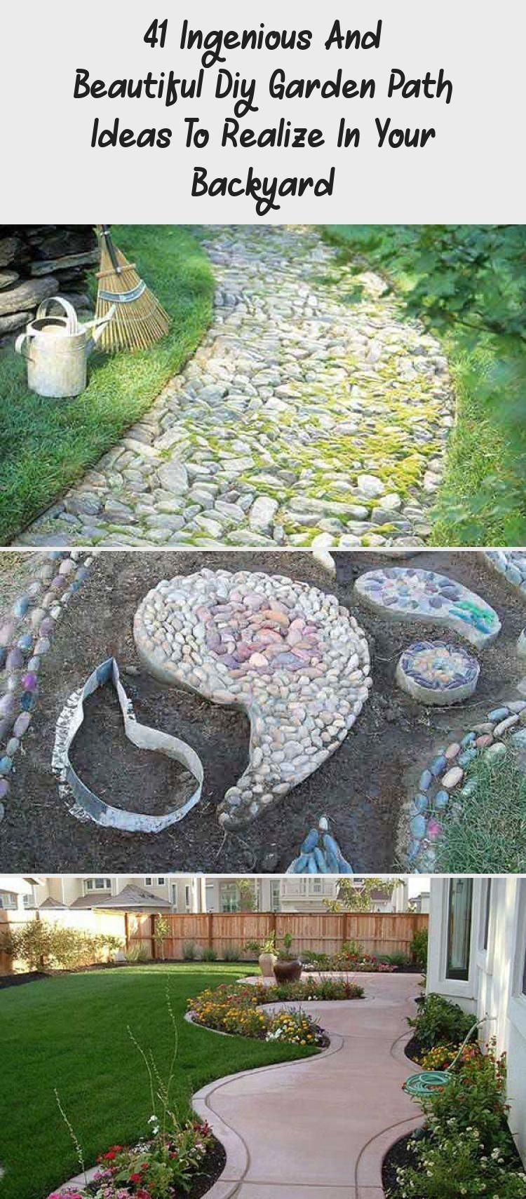 Photo of 41 Ingenious And Beautiful Diy Garden Path Ideas To Realize In Your Backyard – GARDEN