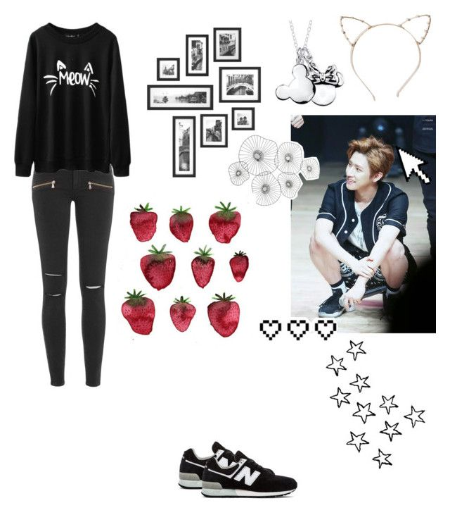 U0026quot;Monsta-X I.M ufe0fu0026quot; by dania-exol-army liked on Polyvore featuring beauty Paige Denim Disney New ...