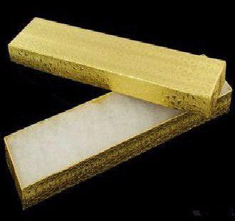 GOLD FOIL JEWELRY BOX- Long 6PK