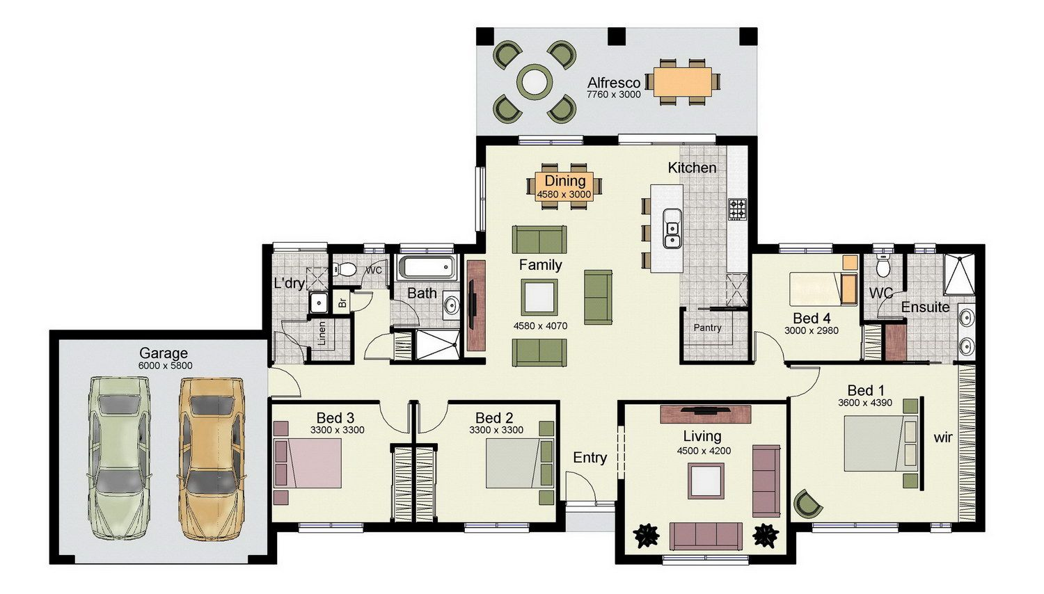 The Lansdown 248 Is A Versatile Family Design Suitable For Wide Or Acreage Blocks Of Land Rumah
