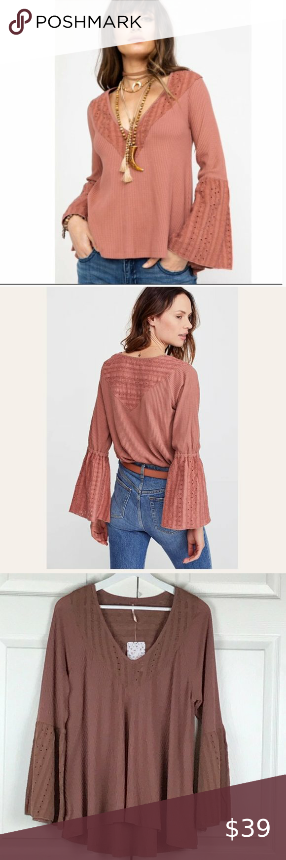 Free People Parisian Nights Top  Embroidered