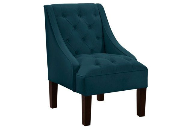 Isabelle Swoop Arm Chair Dark Teal Home Stuff Chair Accent