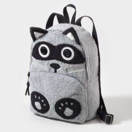 Gray New Claire/'s Club Fur Bear Backpack