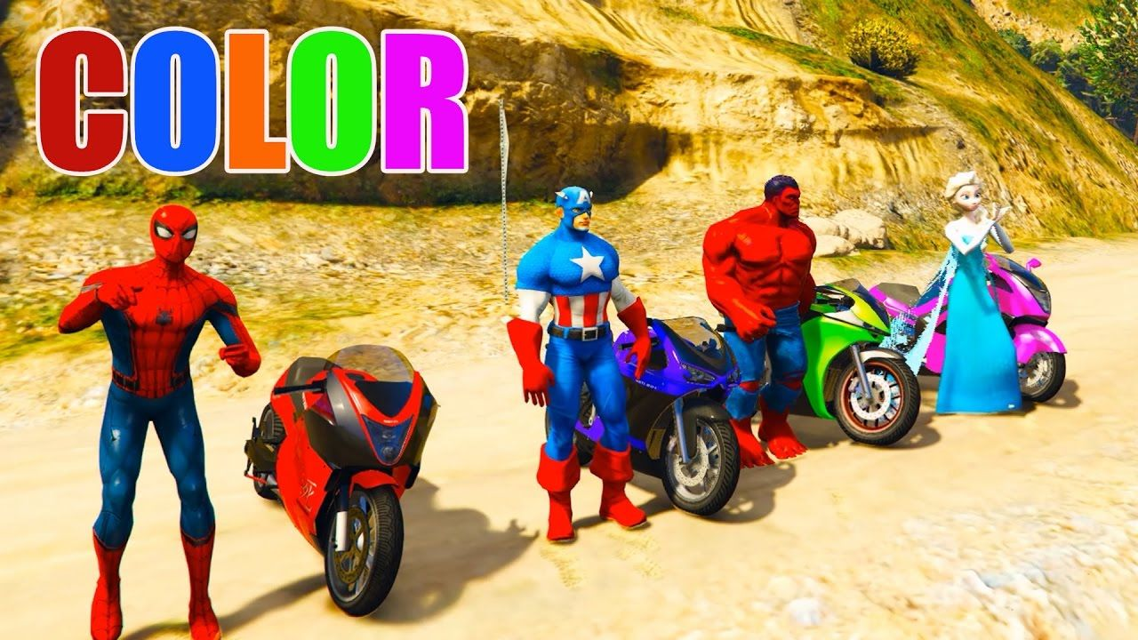 LEARN COLOR with Motorcycle Learn Colors Videos for Kids Colours ...