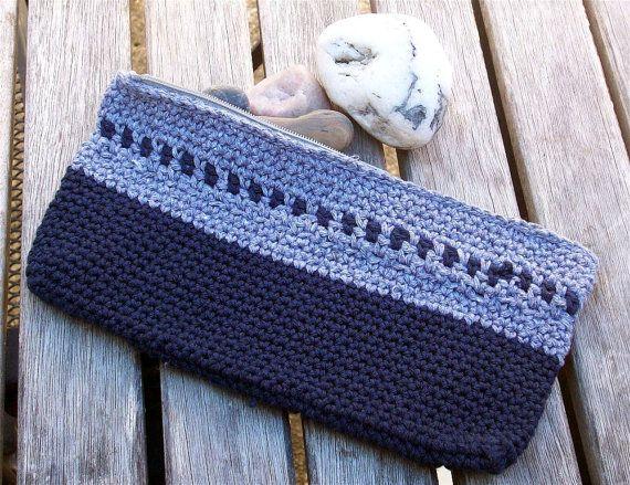 Crochet Zipper Pencil Case or Cosmetic Zipper by OregonAttitude