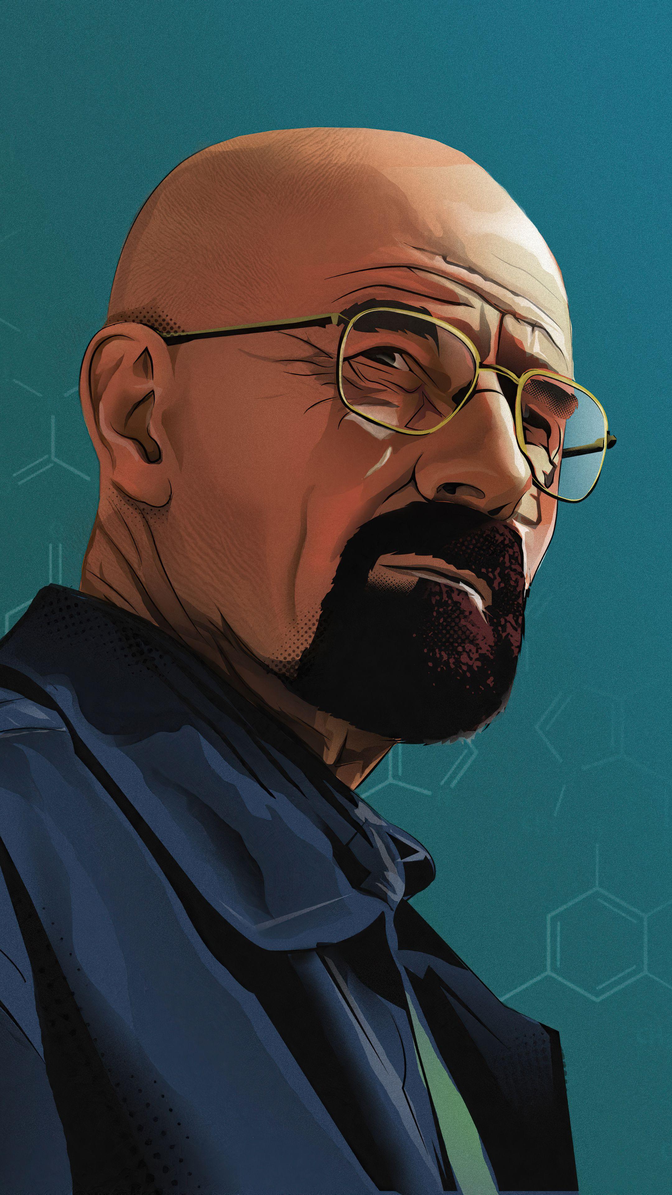 Walter White in Breaking Bad Mobile HD Wallpaper in 2020