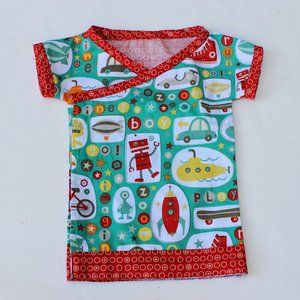 Gratis patroon; uitlijnen voor een kleedje te maken - 0 tot 3 mnd.