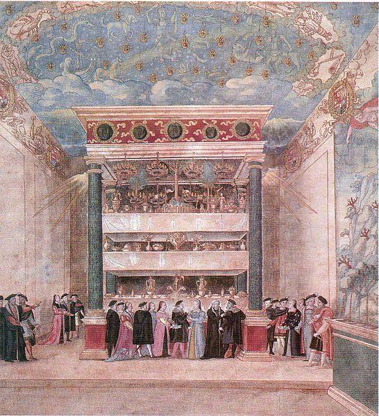 """La """"salle enchantée"""" de Binche, en las fiestas de agosto de 1549, organizada por María de Hungría"""
