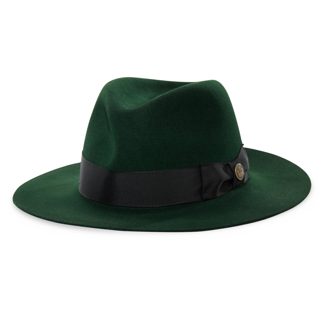 County Line Wide Brim Fedora hat in Forest Green 3cb84b1e96c