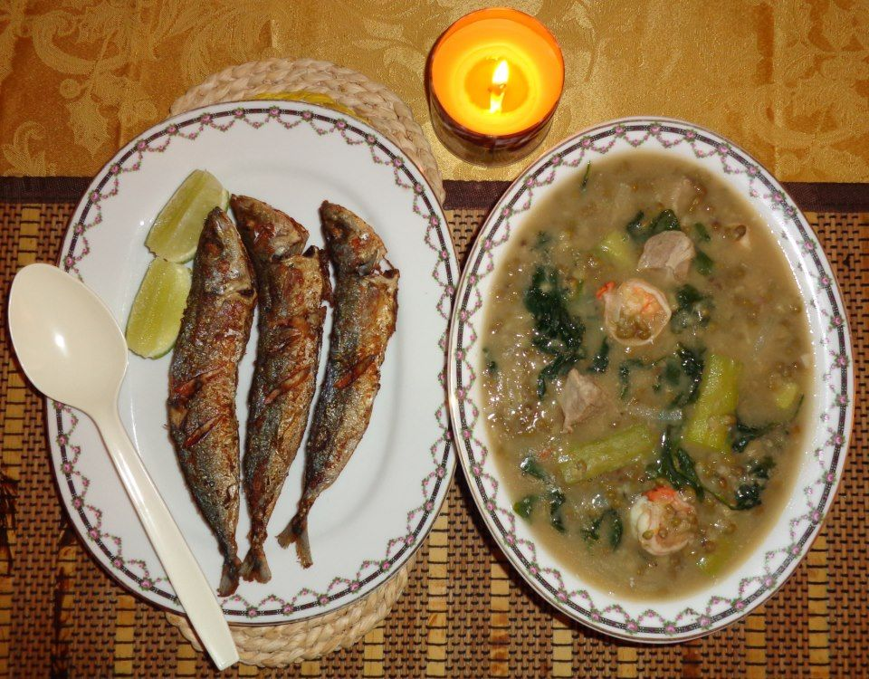 how to cook monggo with fried fish