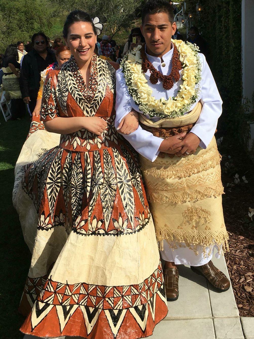 Tongan couple on their wedding day | Polynesian wedding
