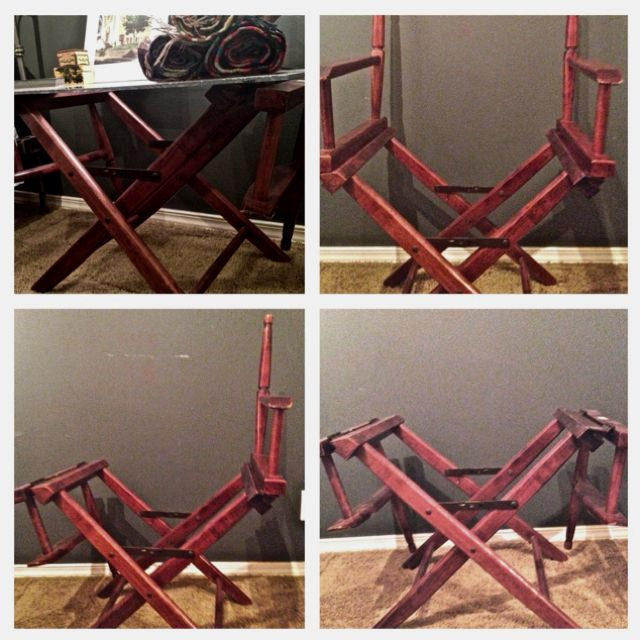 How To Turn A Directors Chair Into A Coffee Table Sillas Plegables Sillas Muebles Reciclados