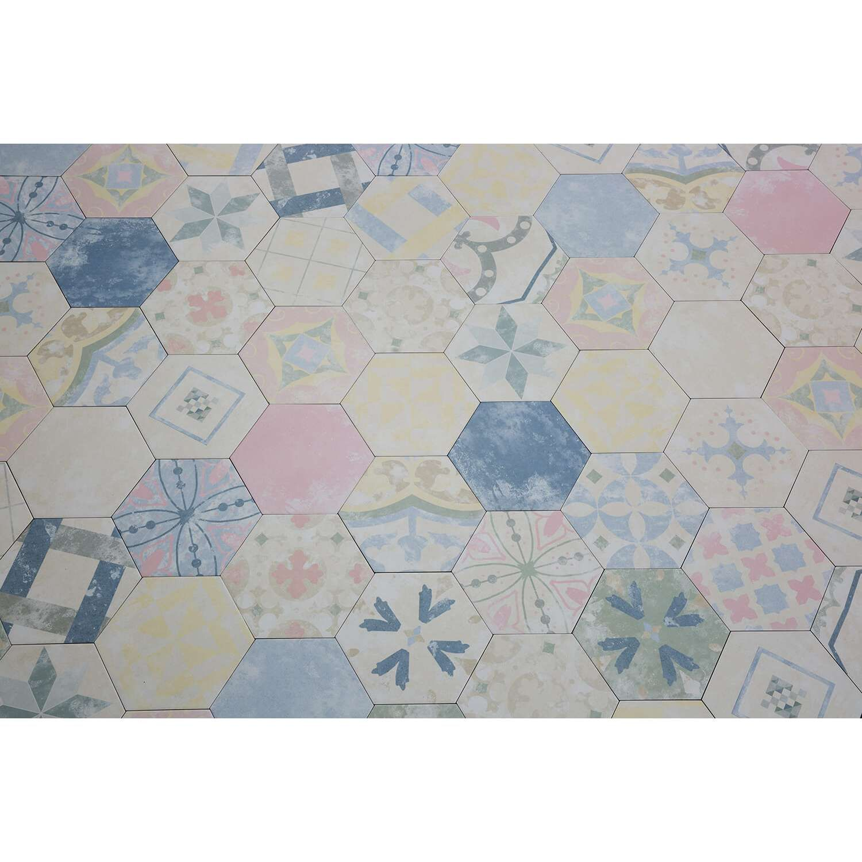 Sechseckfliesen im Patchwork-Stil | Patchwork Fliese Color Art Bunt ...