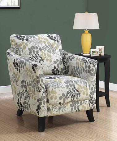 Miraculous Love This Beige Leaf Accent Chair On Zulily Zulilyfinds Creativecarmelina Interior Chair Design Creativecarmelinacom
