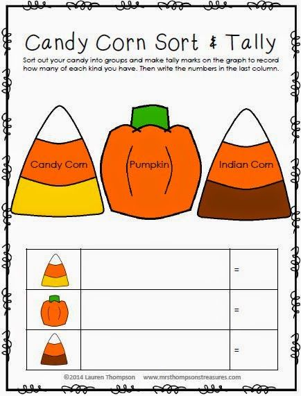 Learning With Candy Corn Halloween Kindergarten Halloween Preschool Halloween School