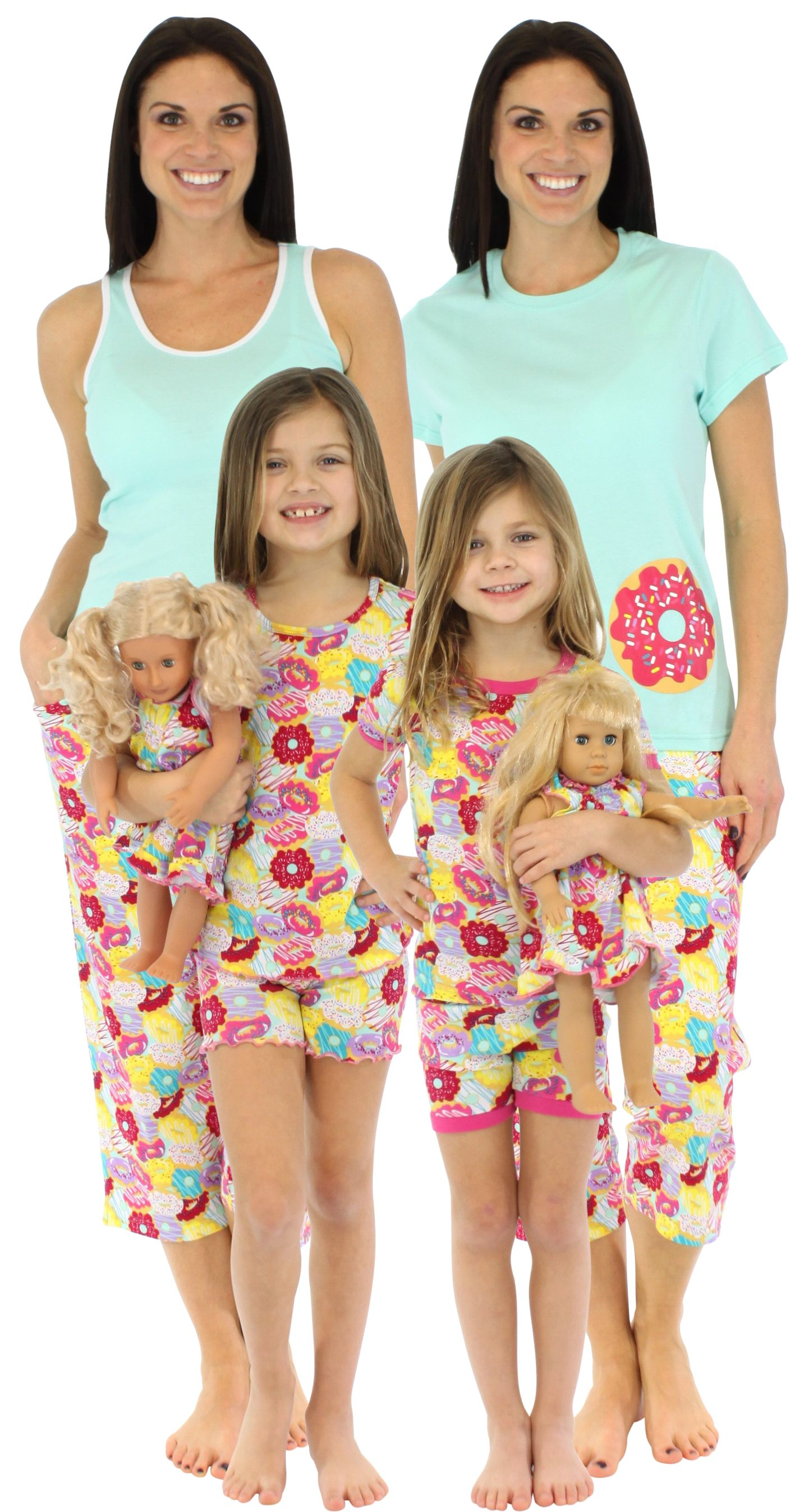 SleepytimePJs Mommy   Me Donuts matching pajamas are perfect for the spring  and summer. The soft 446b068ea