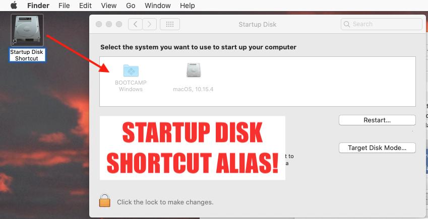 Create Desktop Shortcut To Startup Disk For Macos Preference Pane Start Up Computer Shortcuts Shortcut
