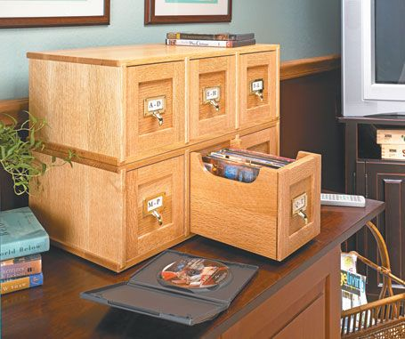 Dvd Storage Case Woodsmith Plans Furniture Plans Pinterest