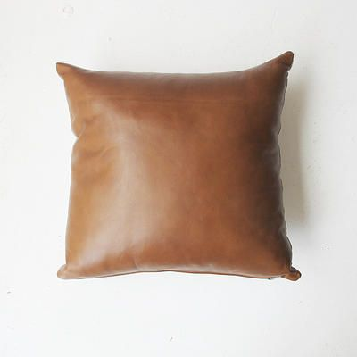 Tan Leather Cushion - from Mr & Mrs White - $110 each, free shipping  Australia