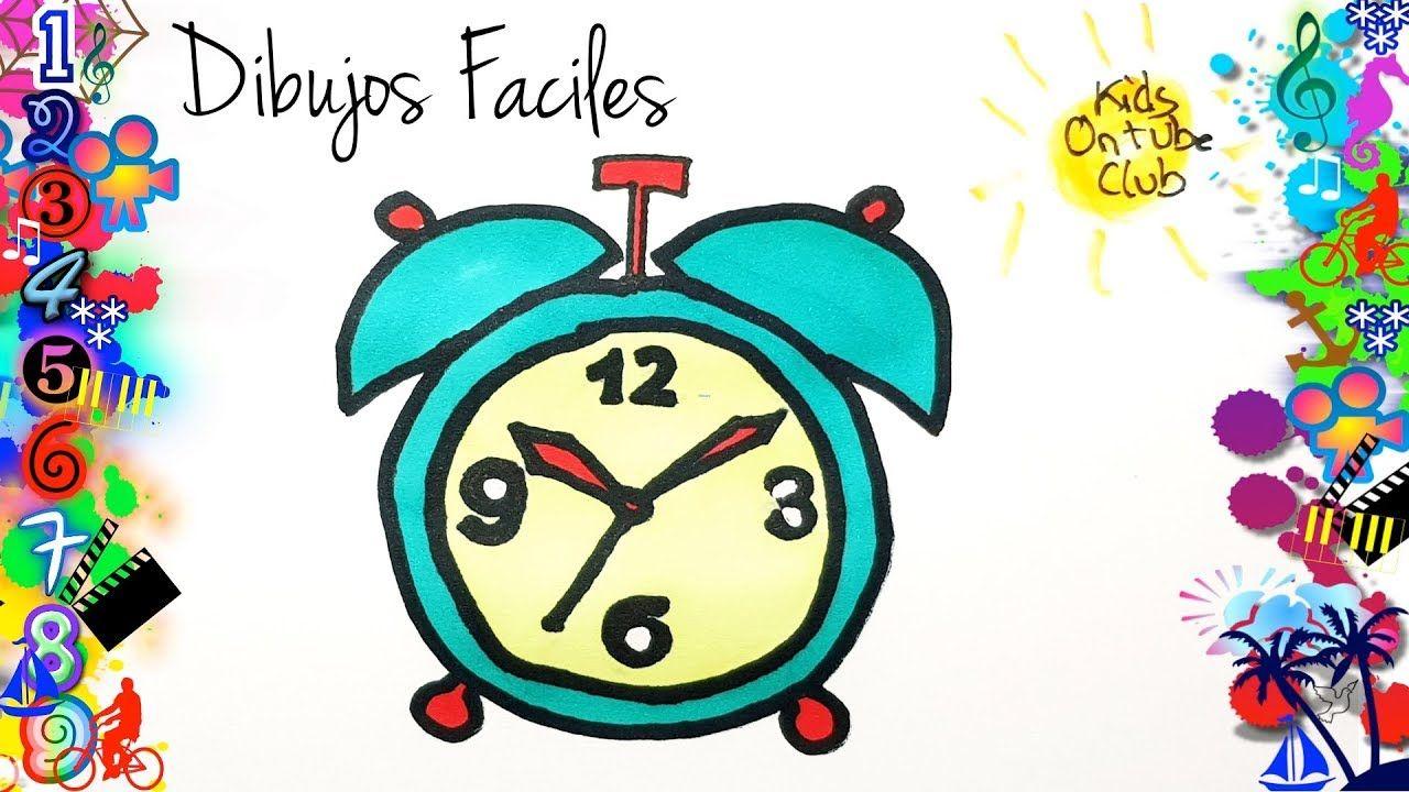 Como Dibujar Un Reloj Despertador Facil De Dibujar Para Ninos Dibujos Faciles Dibujos Faciles Para Ninos Relojes Dibujo