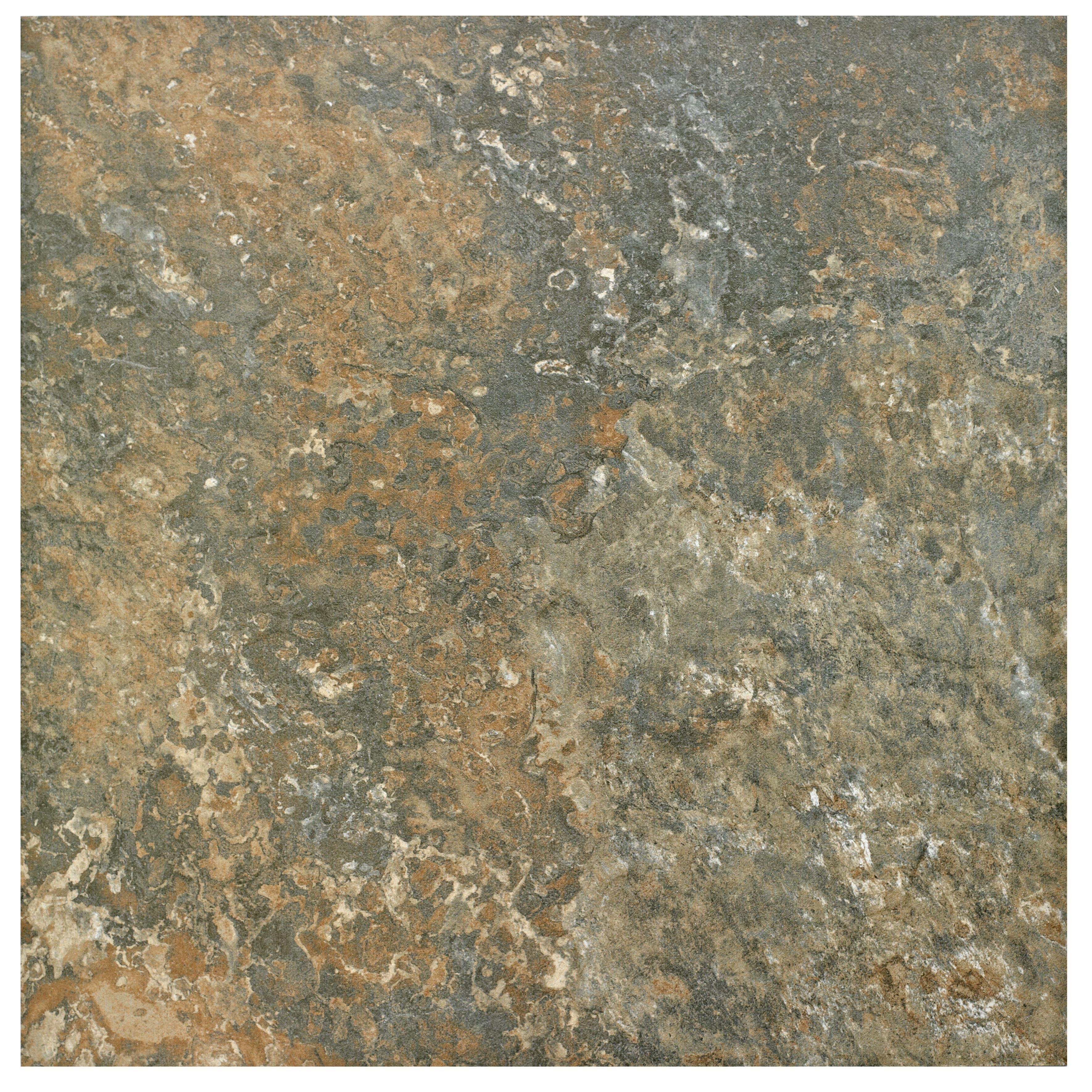 Brook Grey Dark Stone Effect Porcelain Wall & Floor Tile,