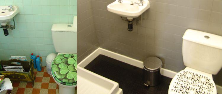 Une peinture pour salle de bain qui remplace le carrelage idee maison peinture salle de bain - Peinture pour salle de bain carrelage ...