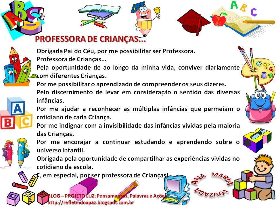 Palavras Do Céu Home: PROFESSORA DE CRIANÇAS Ana Maria Louzada Obrigada Pai Do