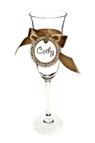 empty glass with brown ribbon/ free printables