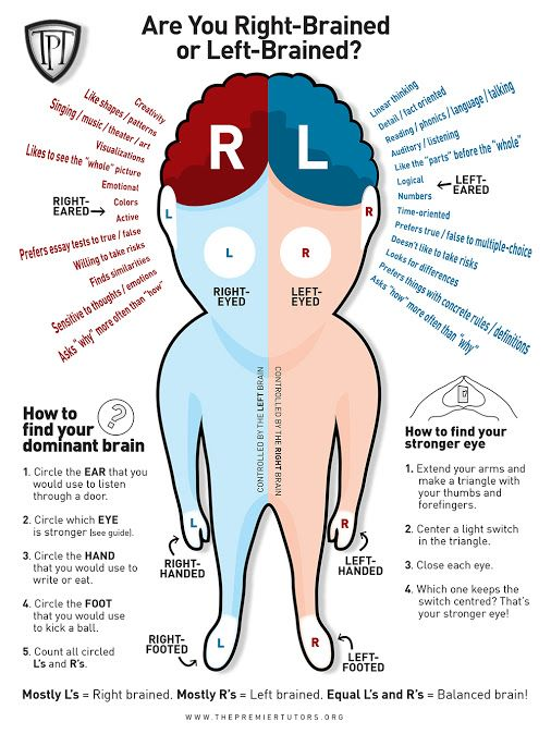 Are You Right-Brained or Left-Brained?   Left Hands Rule