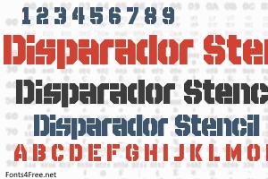 Disparador Stencil Font
