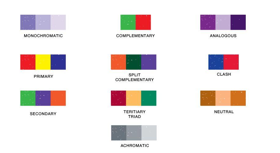 Color harmony in design color