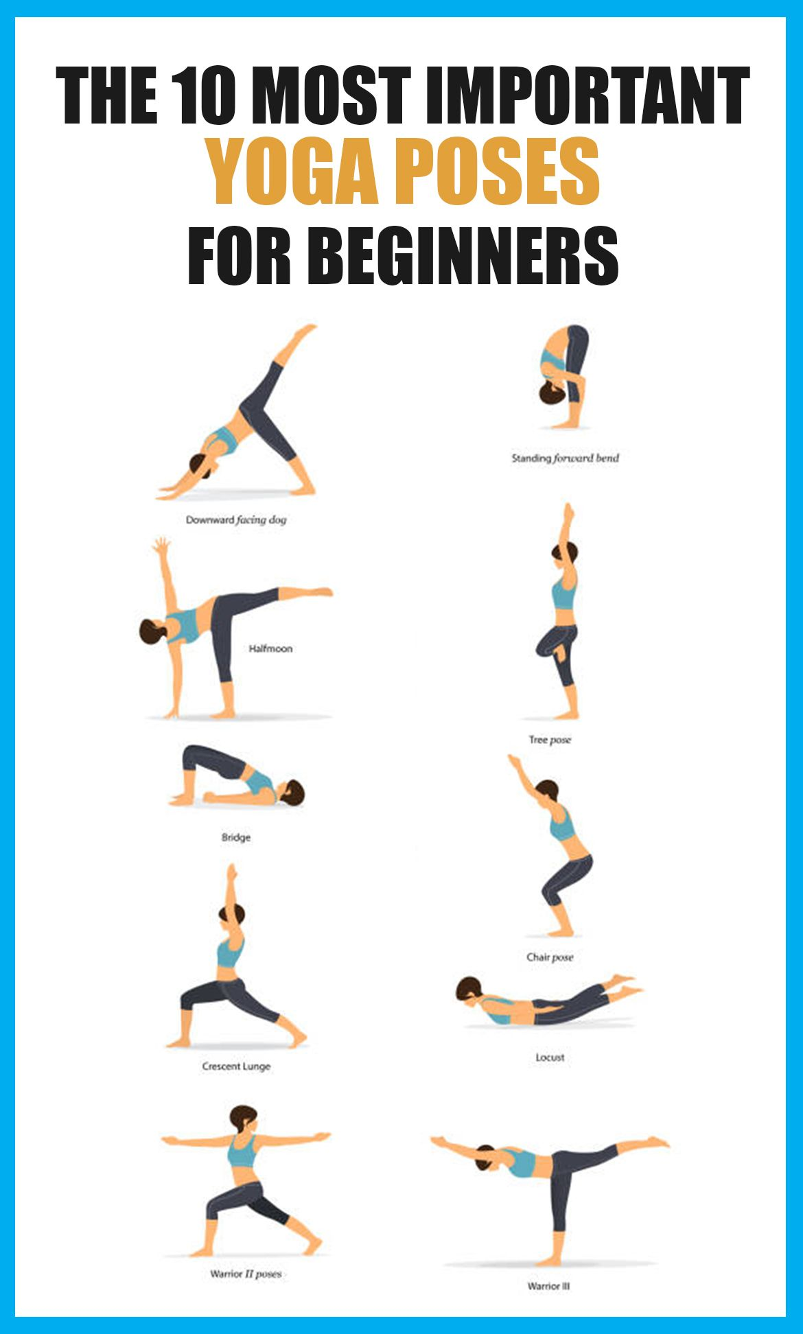 The 10 Most Important Yoga Poses For Beginners Yoga Poses For Beginners Yoga Poses Yoga For Beginners