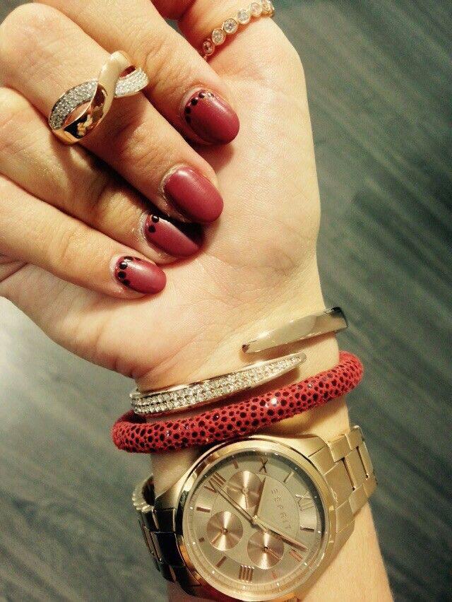 Esprit Uhr, Armreif und Ring + Endless Armband