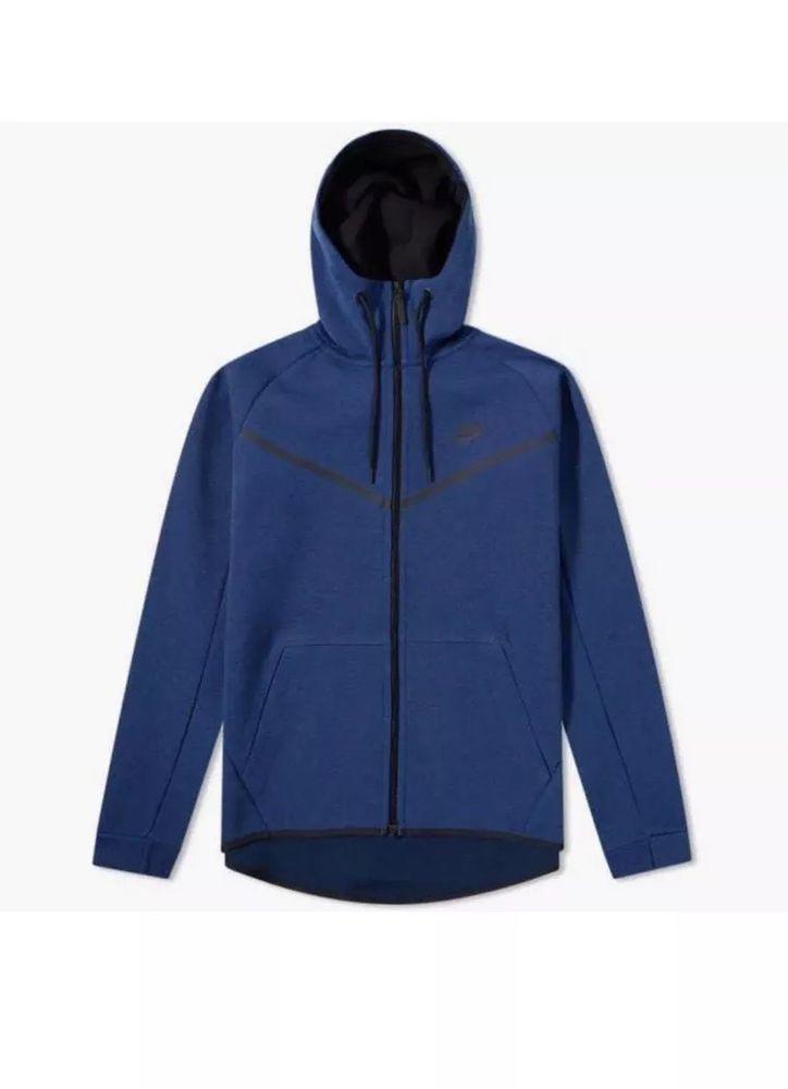 a487d0fbf3 Nike Tech Fleece Windrunner Hoodie Jacket Obsidian Blue Sz XL 805144 451  Men s  Nike  HoodiesSweatshirts