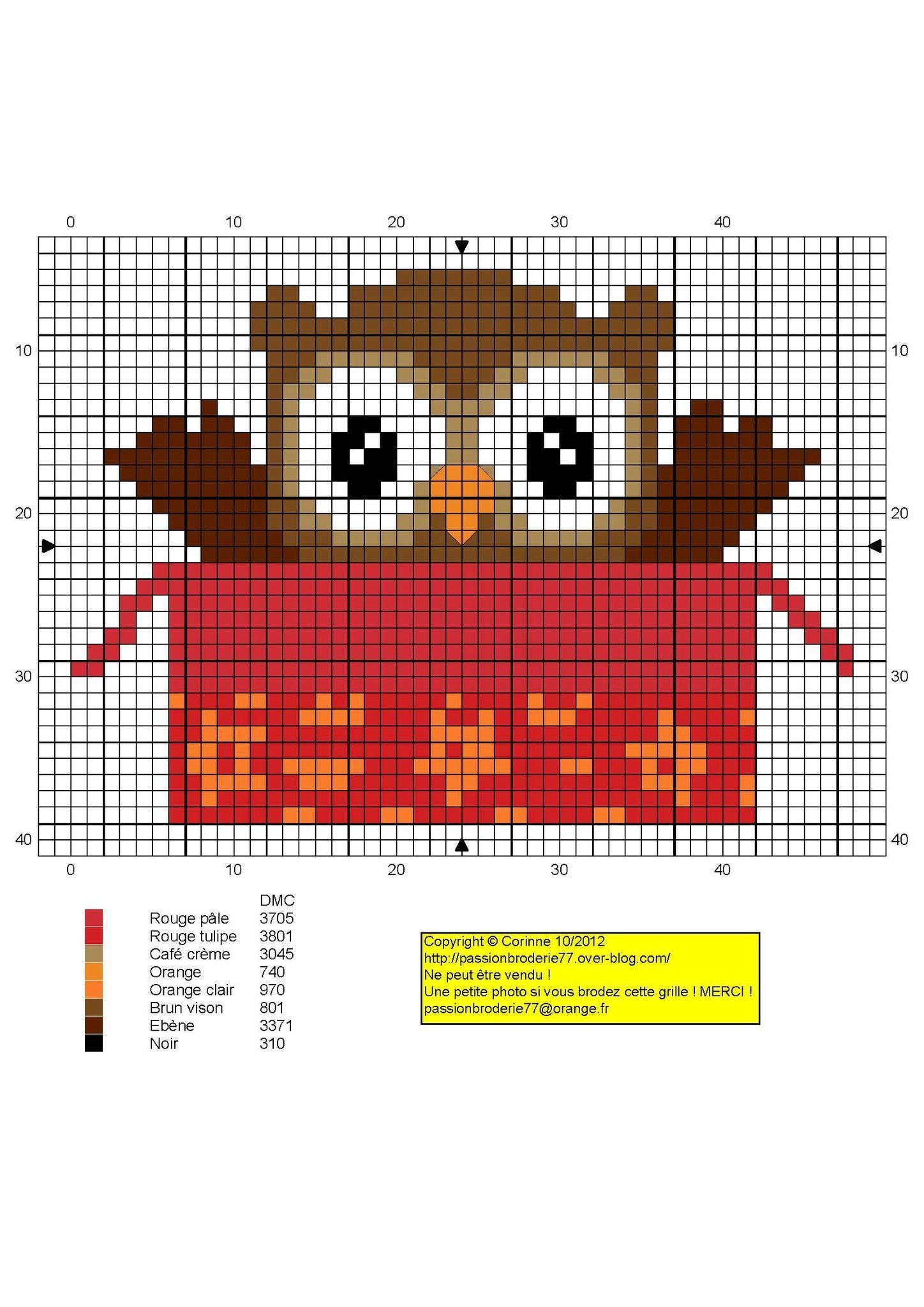 chouette - great - Point de croix - cross stitch - Blog : http ...