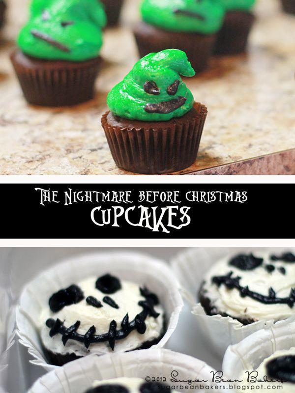 Nightmare Before Christmas Cupcakes Christmas Cupcakes