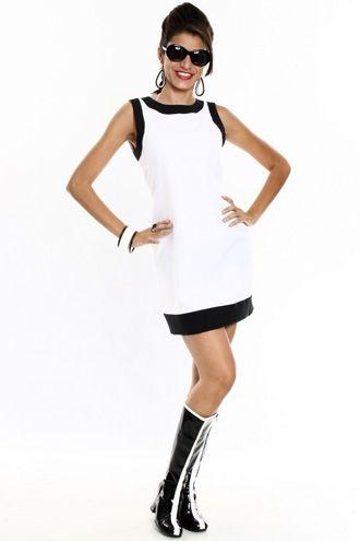 Vestido Tubinho Branco - Anos 60  3f3bf9727f75e