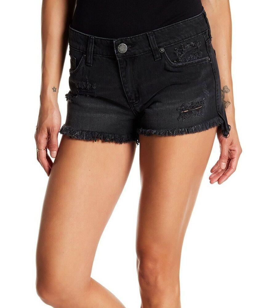 f18d64aa71 (eBay Ad) STS Blue NEW Black Womens Size 29 Frayed Hem Distressed Denim  Shorts $45 839