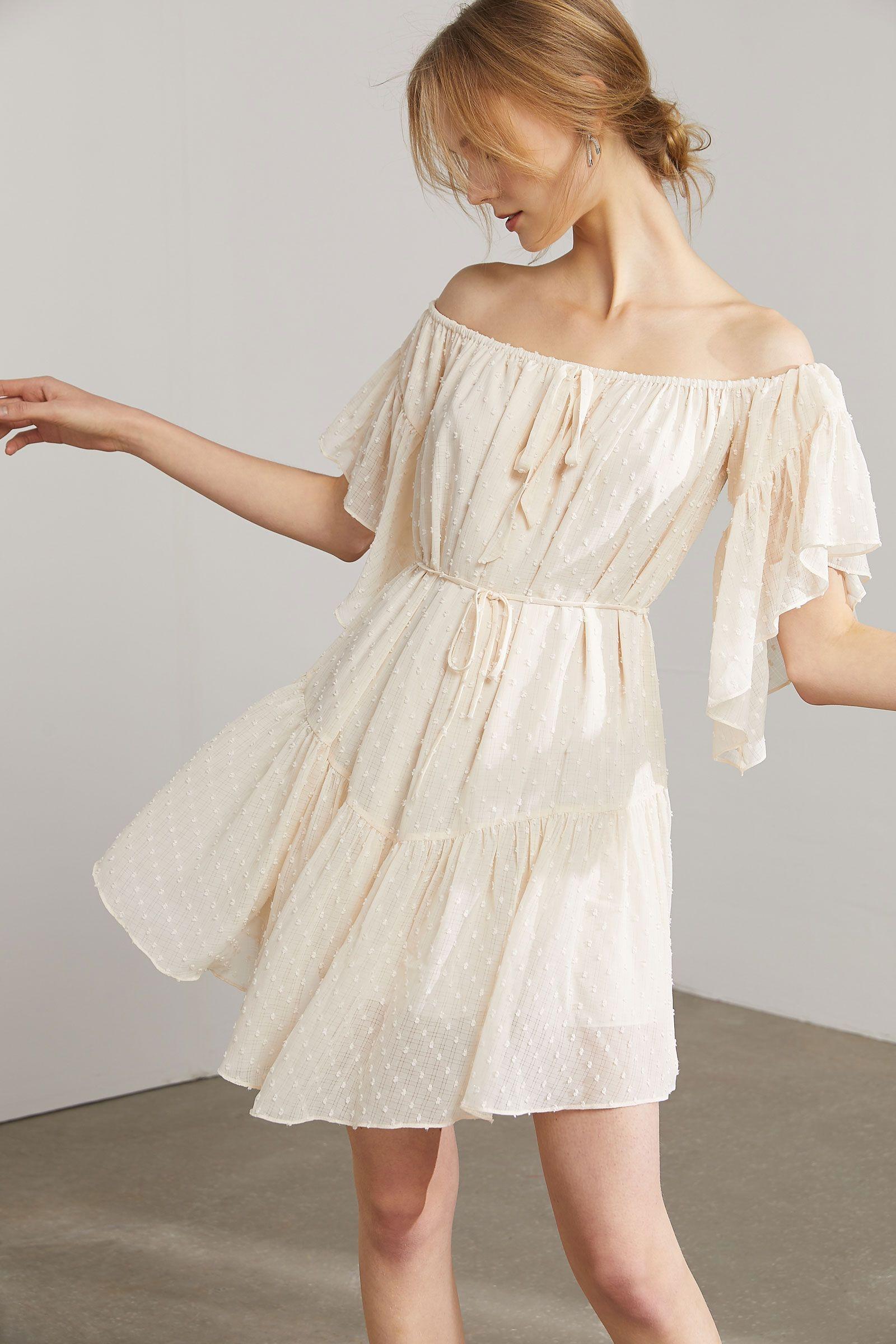 Ophelia Ivory Flutter Sleeve Dress Flutter Sleeve Dress Dresses With Sleeves Mini Dress [ 2400 x 1600 Pixel ]
