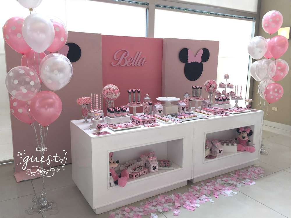 Be My Guest Party S Birthday Minnie Mouse Photo Gallery At Catch My Party Minnie Birthday Party Minnie Mouse Birthday Party Minnie Mouse 1st Birthday