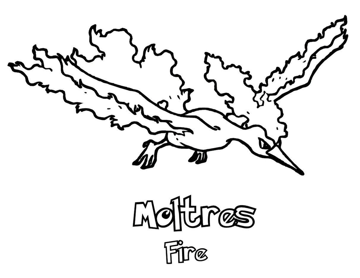 Moltres Pokemon Coloring Pages