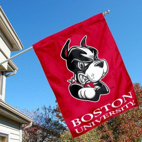 College Flags and Banners Co Boston University Double Sided House Flag